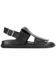 Marni Fringe Front Sandals Black