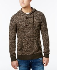 Retrofit Toggle Fleece Sweater Olive Mix