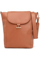 Halston Pebbled Leather Shoulder Bag Camel