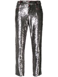 Iro Sequinned Skinny Jeans Silver
