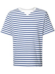 Sacai Striped T Shirt White