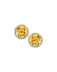 Grace 18K Gold Citrine And Diamond Earrings Kiki Mcdonough Black