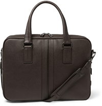 Tod's Cross Grain Leather Briefcase Brown