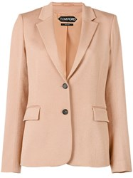 Tom Ford Single Breasted Jacket Nude Neutrals