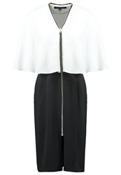 French Connection Arrow Cocktail Dress Party Dress Black White