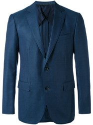Pal Zileri Woven Blazer Men Cupro Wool 50 Blue