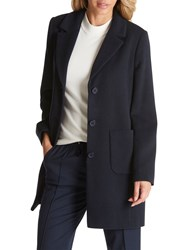 Betty Barclay Lined Pea Coat Dark Navy