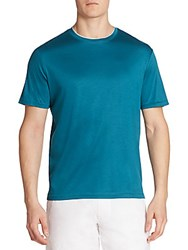 Saks Fifth Avenue Collection Short Sleeve Crewneck Tee Turquoise