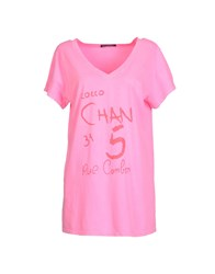 4Giveness Topwear Short Sleeve T Shirts Women Pink