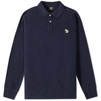 Paul Smith Long Sleeve Regular Fit Zebra Polo Blue