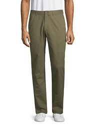 Black Brown Relaxed Leg Cotton Chino Pants Olive
