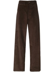 E. Tautz Corduroy Field Trousers Brown