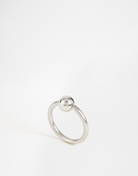 Designsix Silver Plated Piercing Ring