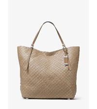 Hutton Large Woven Leather Tote Elephant