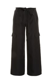 Helmut Lang Cropped Cargo Trousers Black
