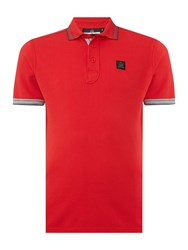 Duck And Cover Duran Short Sleeve Classic Polo Shirt Red
