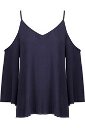 Bailey 44 Cold Shoulder Jersey Top Navy