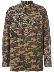 Faith Connexion Camouflage Shirt Jacket Brown