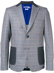 Junya Watanabe Man Patchwork Checked Blazer Grey