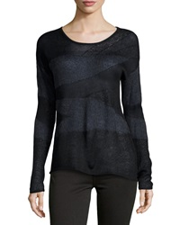 Dex Drop Shoulder Sweater Black Charcoal