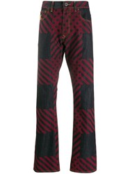 Vivienne Westwood Anglomania Straight Leg Check Print Jeans Blue