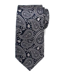 Cufflinks Inc. Star Wars Yoda Paisley Print Silk Tie Gray Pattern
