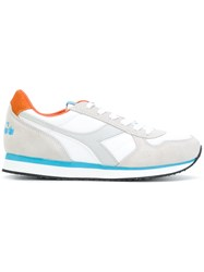 Diadora Panelled Sneakers Women Leather Polyester Tactel Rubber 36 Grey