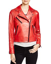 Rag And Bone Rag And Bone Jean Chrystie Leather Moto Jacket Red