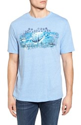 Nat Nast Men's Reel Life Graphic T Shirt Dusty Blue
