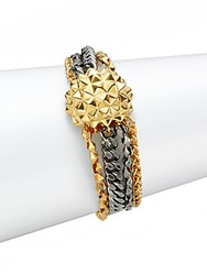 Stephen Webster Two Tone Multi Chain Bracelet Gold Silver