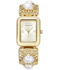 Charter Club Women's Gold Tone Imitation Pearl Bracelet Watch 14X20mm Only At Macy's