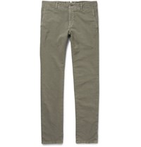 Incotex Slim Fit Stretch Cotton Twill Chinos Anthracite