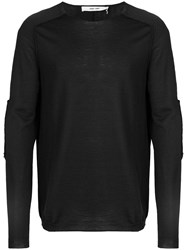 Damir Doma Patch Sleeves Jumper Black