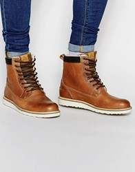 Aldo Geran Faux Shearling Lined Boots Brown