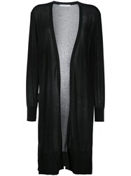 Astraet Long Open Cardigan Black