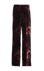 For Restless Sleepers Peonie Velvet Crono Pant Red