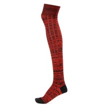 Miu Miu Knitted Wool Knee Socks Red