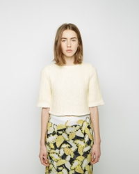 Opening Ceremony Zig Zag Knit Boxy Top Wheat Yellow Multi