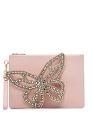 Sophia Webster Flossy Butterfly Clutch Bag Pink