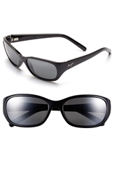 Maui Jim 'Kuiaha Bay' 55Mm Polarized Sport Sunglasses Midnight Black