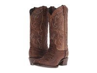 Stetson Harshaw Distressed Brown Vamp Cowboy Boots
