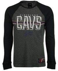 Unk Men's Cleveland Cavaliers Co Captain Thermal Long Sleeve T Shirt Gray