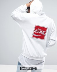 Reclaimed Vintage X Coca Cola Oversized Hoodie White