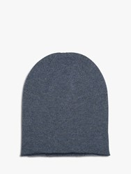 Brora Cashmere Slouchy Beanie Hat Lead