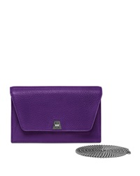 Anouk Leather Clutch Bag Viola Akris