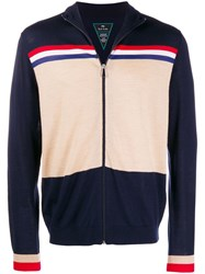 Paul Smith Ps Zip Up Wool Jacket Blue