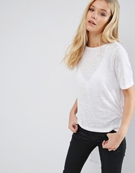 Jdy Margie Hi Low T Shirt White