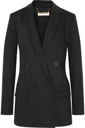 Michael Michael Kors Double Breasted Stretch Wool Blazer Black