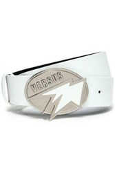 Versus By Versace Leather Belt White