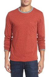 Men's Faherty Reversible Long Sleeve Crewneck T Shirt